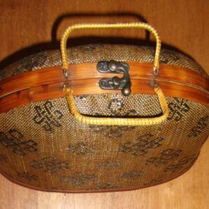 Handbags - Vintage Antique Unique Basket Bag Purse
